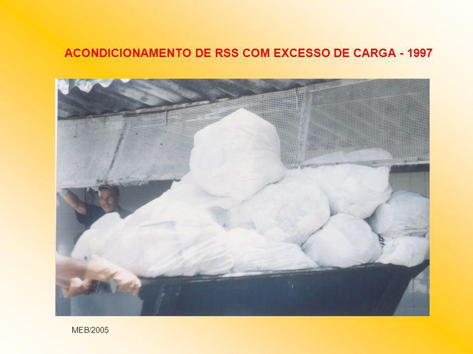 ACONDICIONAMENTO DE RSS COM EXCESSO DE CARGA - 1997 MEB/2005