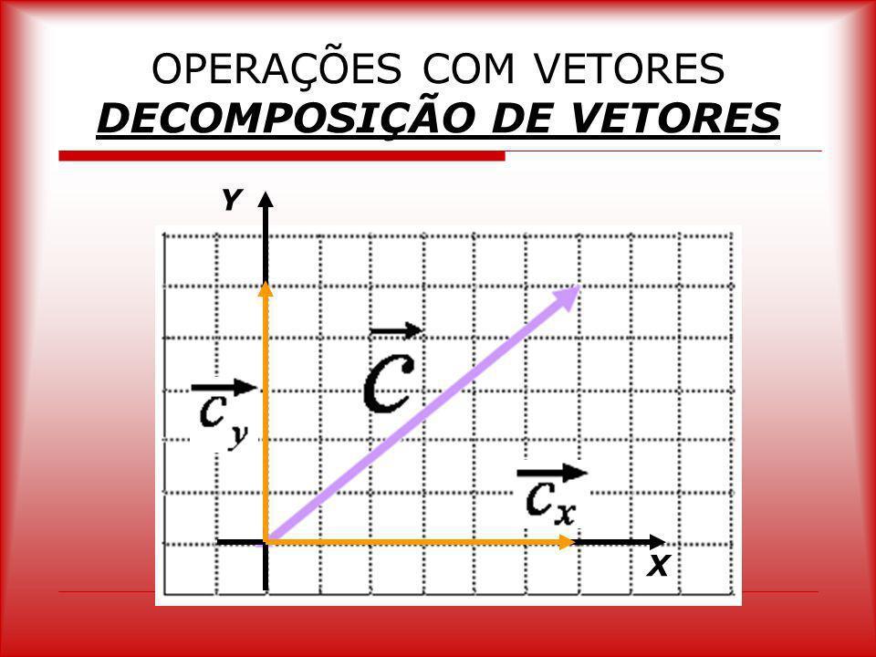 OPERAÇÕES COM VETORES DECOMPOSIÇÃO DE VETORES Y X