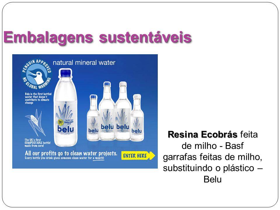 Embalagens sustentáveis Resina Ecobrás Resina Ecobrás feita de milho - Basf garrafas feitas de milho, substituindo o plástico – Belu