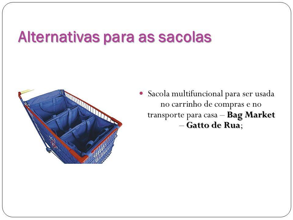 Alternativas para as sacolas Bag Market Gatto de Rua Sacola multifuncional para ser usada no carrinho de compras e no transporte para casa – Bag Marke