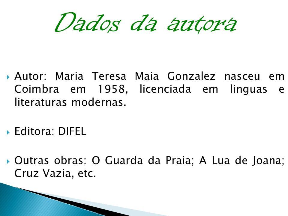 As personagens As personagens que fazem parte deste livro são: A Cláudia; A Estefânia (mãe); O pai; O Leonel (padrasto); Doutora Belmira (psicóloga); A Vitória; o kapa e a Olga que eram os seus melhores amigos;