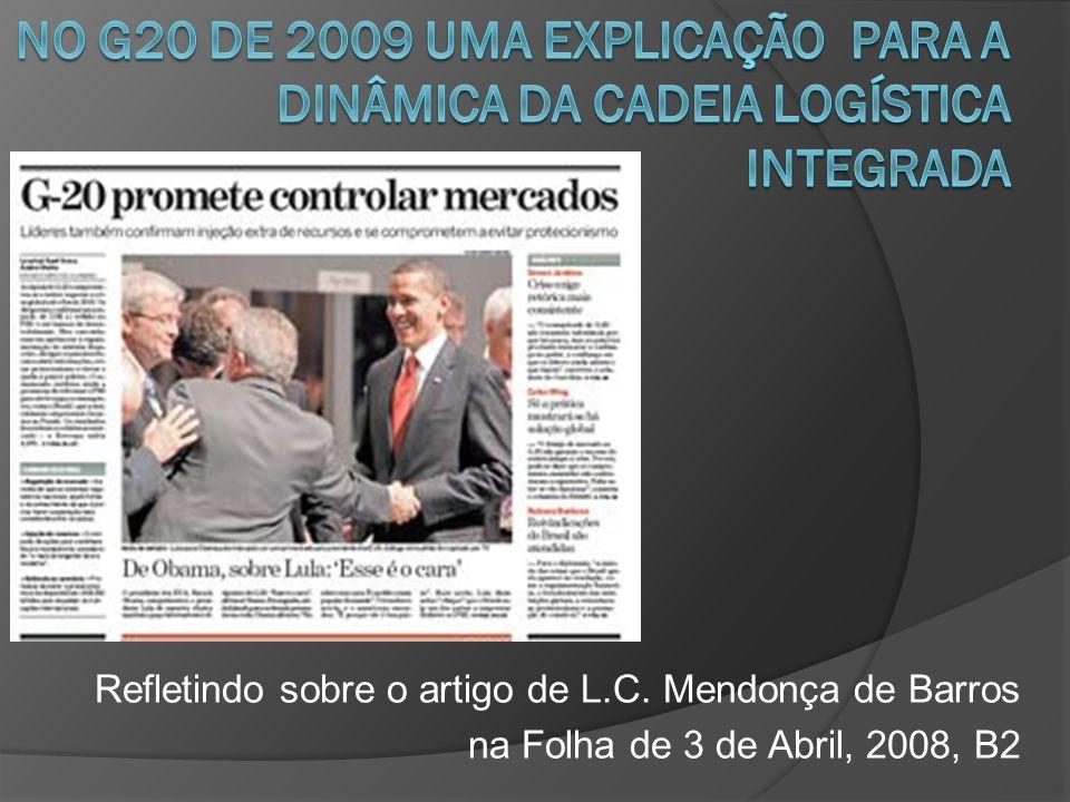 Refletindo sobre o artigo de L.C. Mendonça de Barros na Folha de 3 de Abril, 2008, B2