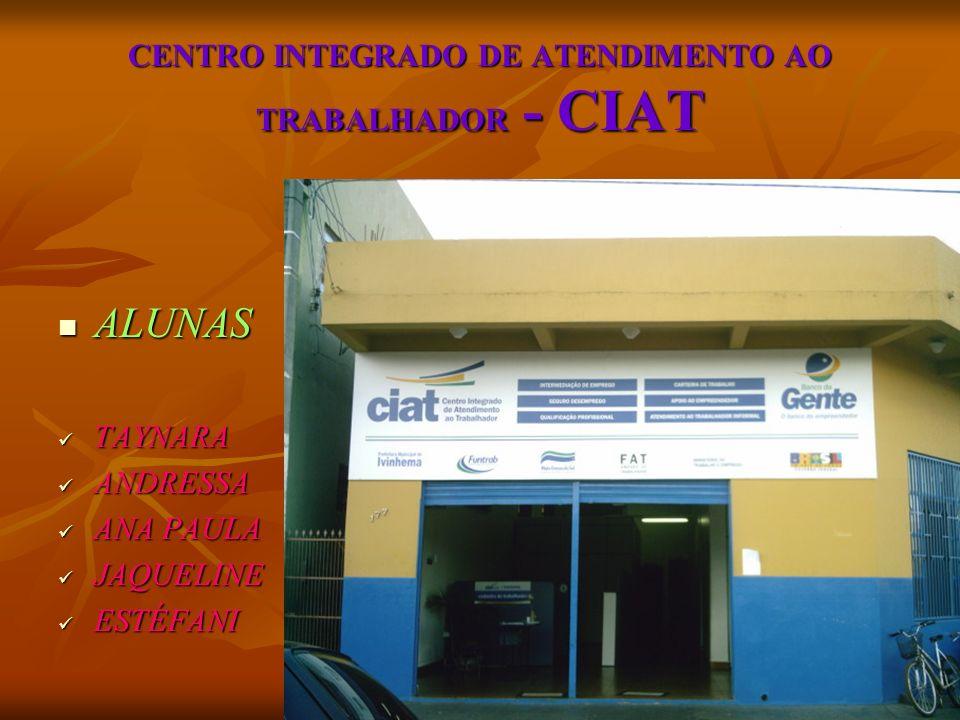 COMO FUNCIONA O CIAT.O TRABALHADOR FAZ UM CADASTRO INICIAL (CURRICULUM).