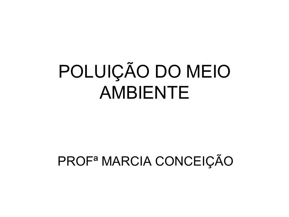 POLUIÇÃO DO MEIO AMBIENTE PROFª MARCIA CONCEIÇÃO