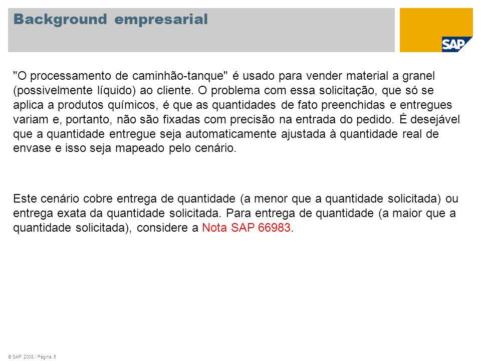 © SAP 2008 / Página 5 Background empresarial