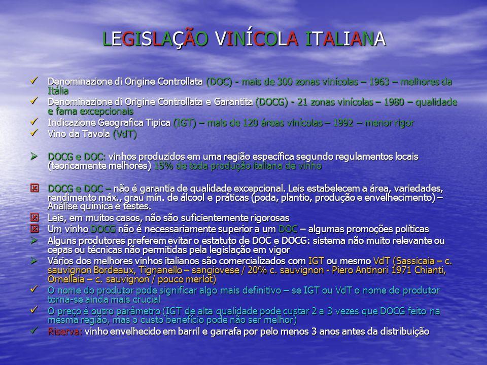 LEGISLAÇÃO VINÍCOLA ITALIANALEGISLAÇÃO VINÍCOLA ITALIANALEGISLAÇÃO VINÍCOLA ITALIANALEGISLAÇÃO VINÍCOLA ITALIANA Denominazione di Origine Controllata
