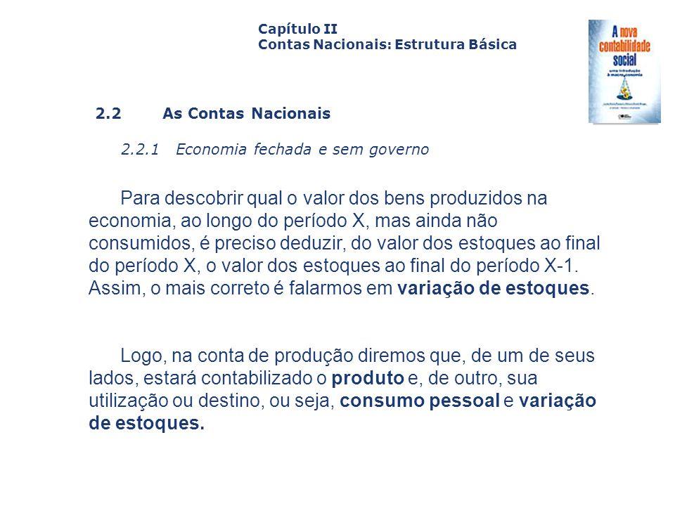2.2 As Contas Nacionais 2.2.1 Economia fechada e sem governo Capa da Obra Capítulo II Contas Nacionais: Estrutura Básica Para descobrir qual o valor d