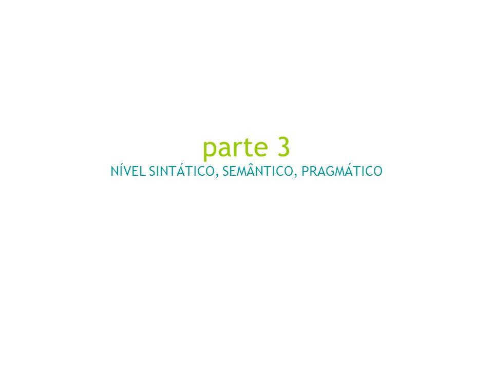S E M I Ó T I C A Sintagma - Combinação Paradigmas - Seleção