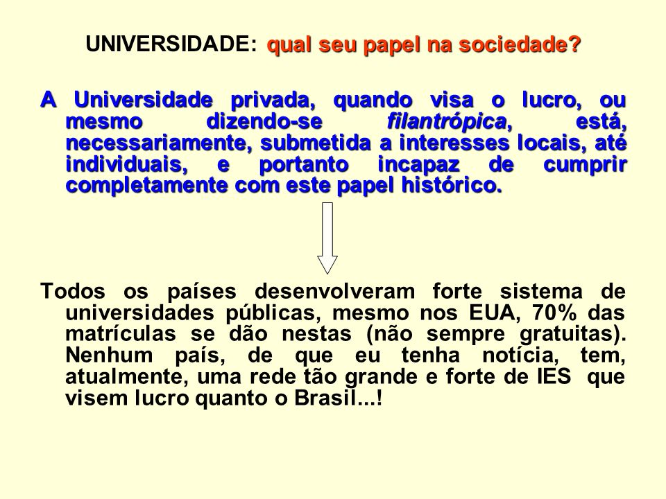 qual seu papel na sociedade.UNIVERSIDADE: qual seu papel na sociedade.