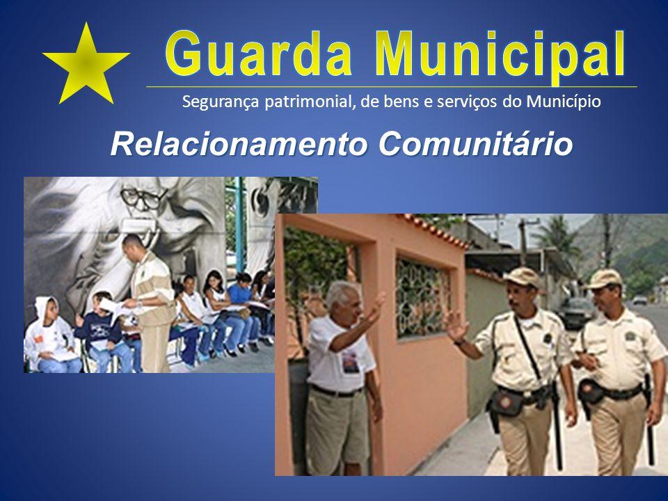 Segurança patrimonial, de bens e serviços do Município Relacionamento Comunitário