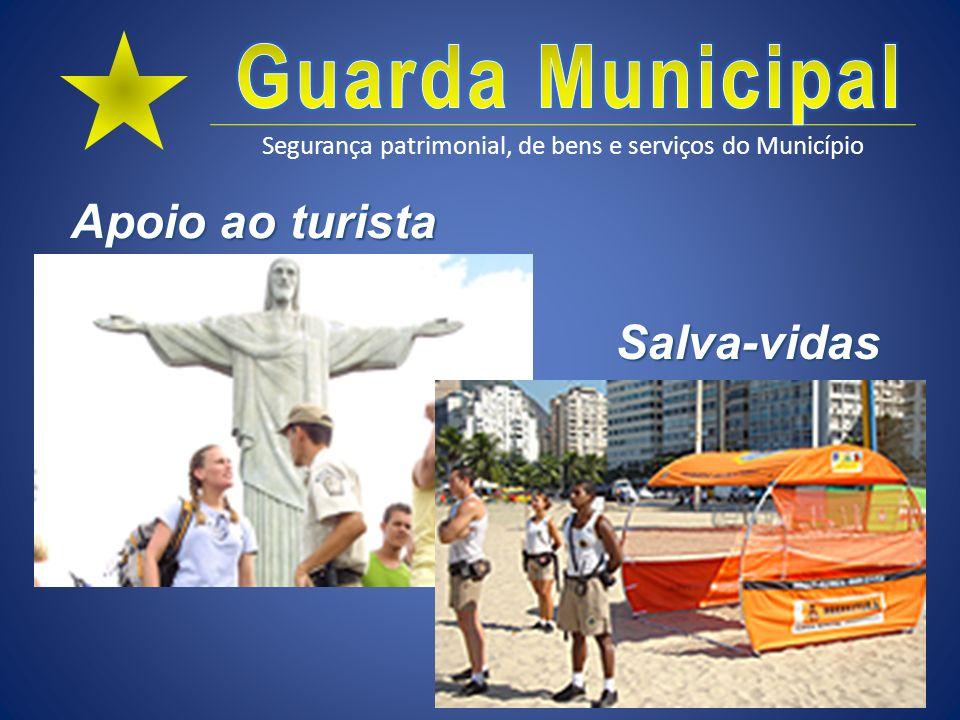 Segurança patrimonial, de bens e serviços do Município Apoio ao turista Salva-vidas