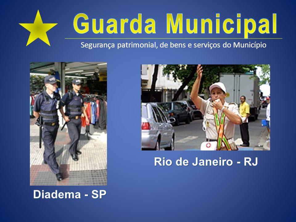 Segurança patrimonial, de bens e serviços do Município Atribuições comuns de GM Controle e fiscalização do Trânsito urbano Art.