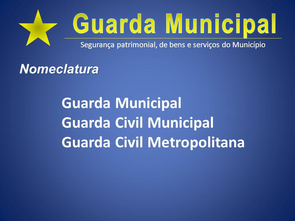 Segurança patrimonial, de bens e serviços do Município Definição Seus componentes possuem as mesmas prerrogativas e obrigações legais que os funcionários municipais.
