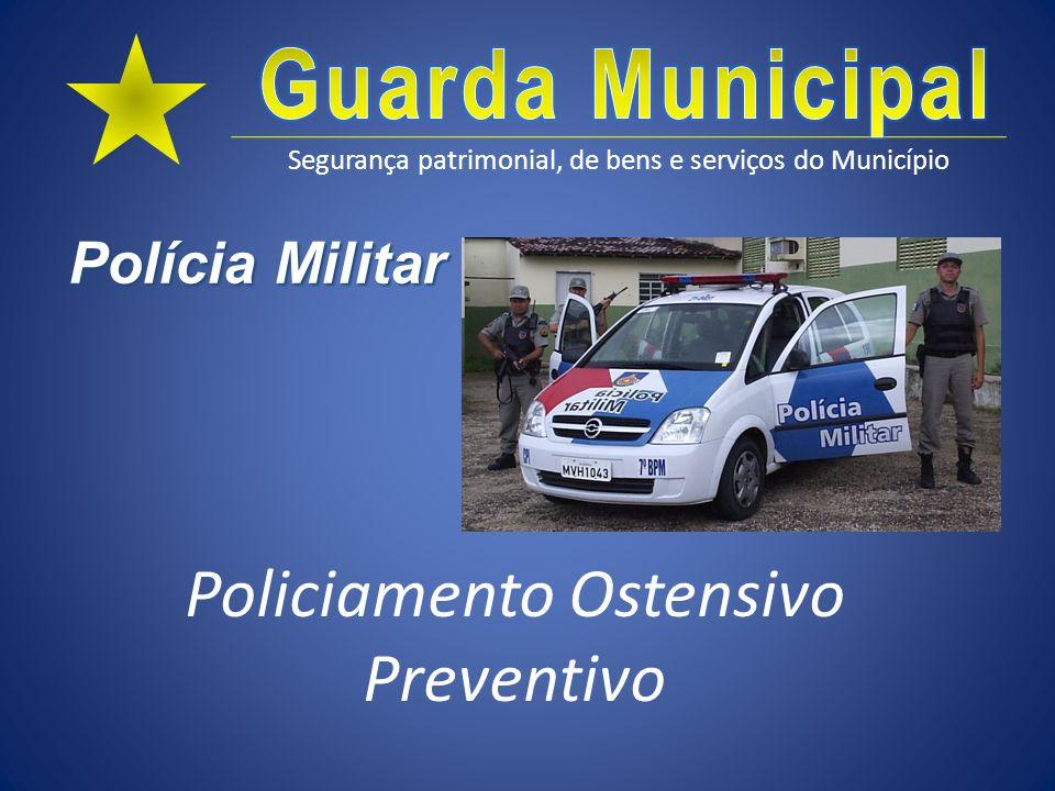 Segurança patrimonial, de bens e serviços do Município Polícia Civil Polícia Judiciária