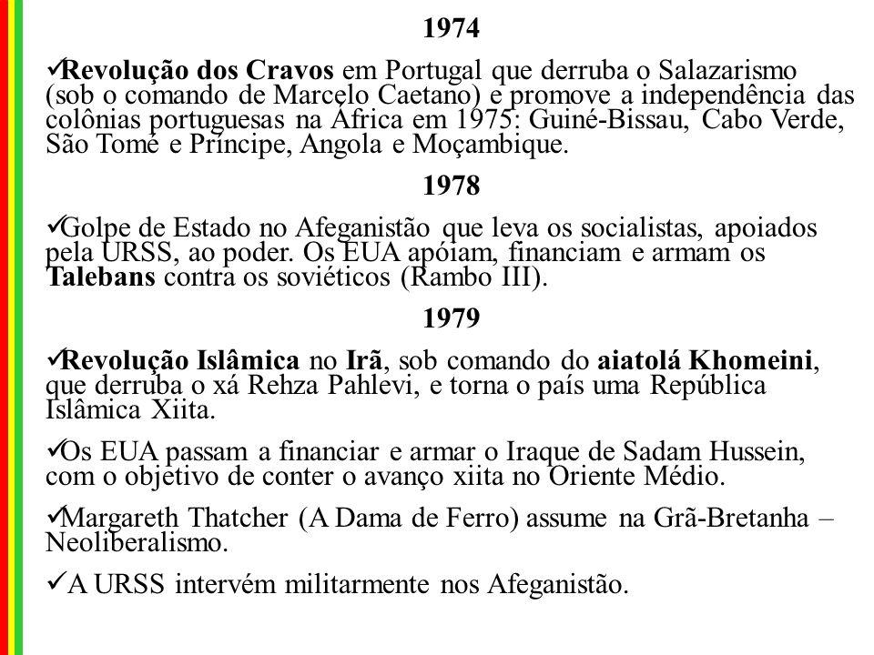 1964 Instalação de Ditaduras Militares pró EUA na América Latina: 1964: Brasil, com a deposição de João Goulart. Aonde for o Brasil irá também a Améri