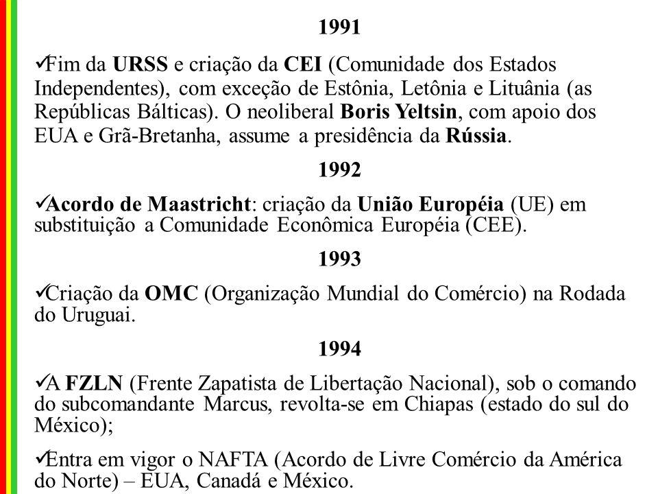 1990 Invasão do Kuwait pelo Iraque; Guerra da Iugoslávia: O mal Josif Broz Tito, governou o país desde o fim da IIGM, mantendo a sua unidade. Após sua