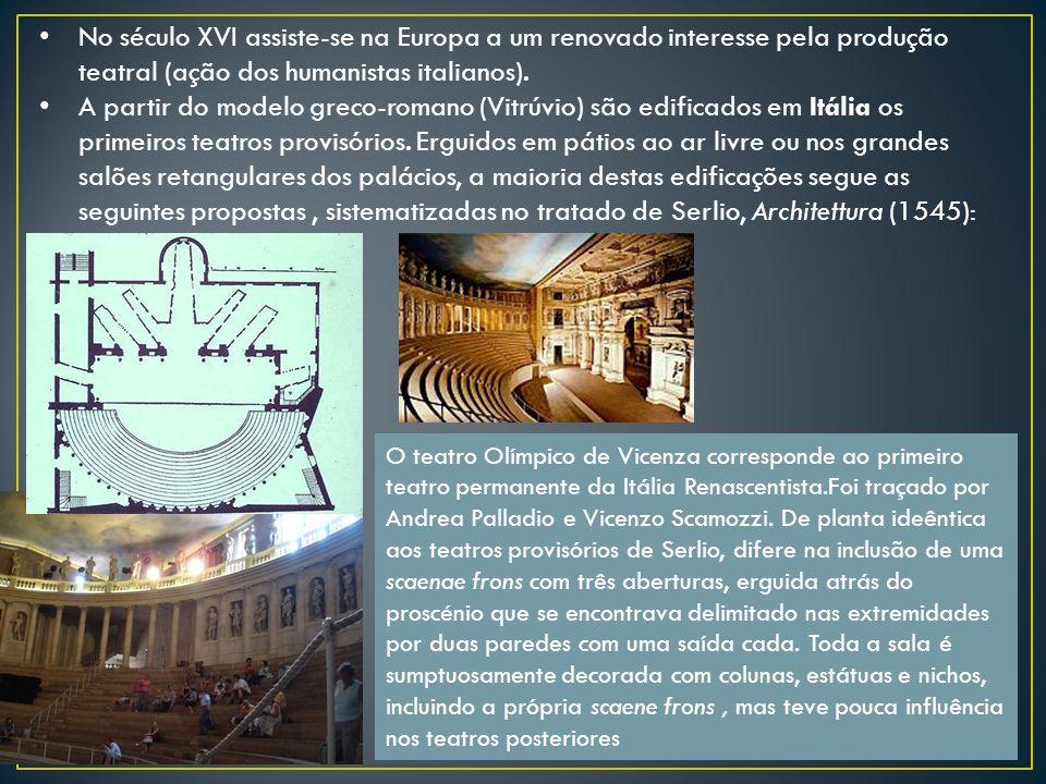 No século XVI assiste-se na Europa a um renovado interesse pela produção teatral (ação dos humanistas italianos). A partir do modelo greco-romano (Vit