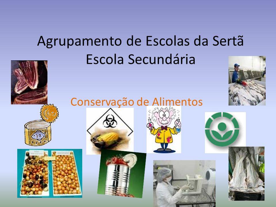 Agrupamento de Escolas da Sertã Escola Secundária Conservação de Alimentos