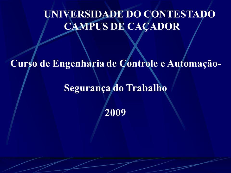 UNIVERSIDADE DO CONTESTADO CAMPUS DE CAÇADOR Curso de Engenharia de Controle e Automação- Segurança do Trabalho 2009