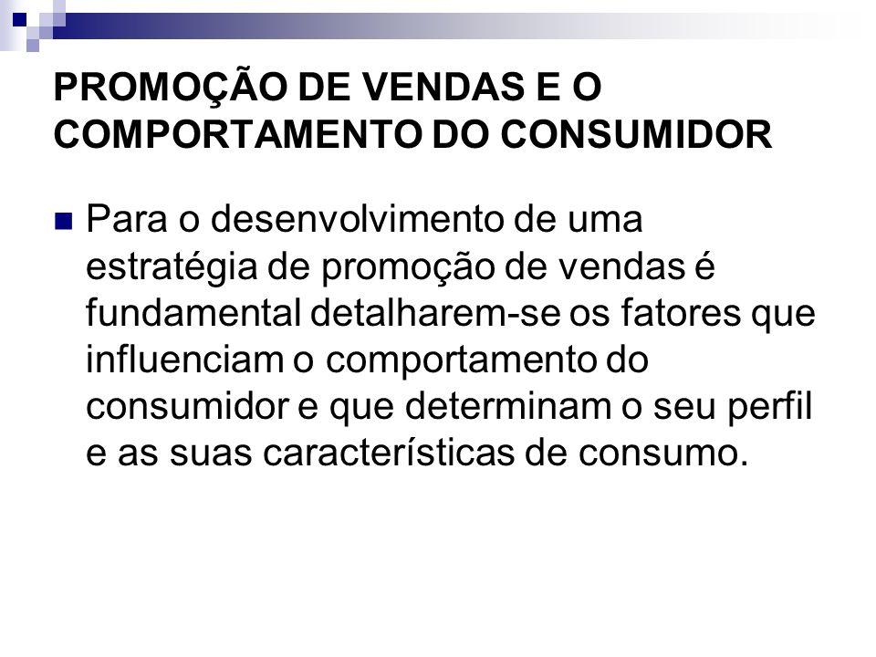 PROMOÇÃO DE VENDAS E O COMPORTAMENTO DO CONSUMIDOR O ponto-de-partida para a estratégia promocional e compreender o comportamento do consumidor é o modelo de estímulo e resposta (...) as características do consumidor e seus processos de decisão levam a certas decisões de compra (KOTLER, apud Zenone, 2005)