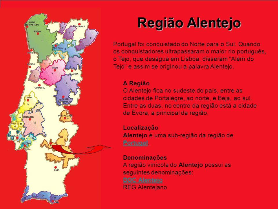 Região Alentejo Portugal foi conquistado do Norte para o Sul.