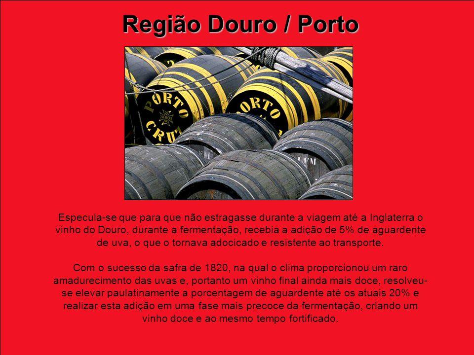 Especula-se que para que não estragasse durante a viagem até a Inglaterra o vinho do Douro, durante a fermentação, recebia a adição de 5% de aguardente de uva, o que o tornava adocicado e resistente ao transporte.