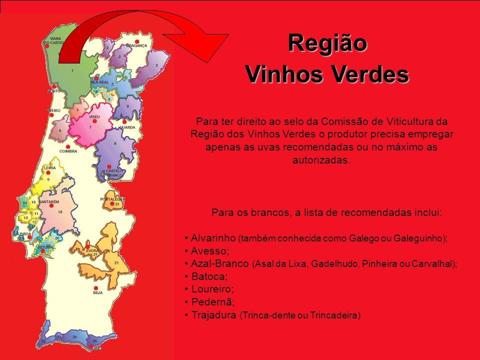 Para ter direito ao selo da Comissão de Viticultura da Região dos Vinhos Verdes o produtor precisa empregar apenas as uvas recomendadas ou no máximo as autorizadas.