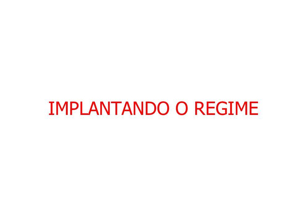 IMPLANTANDO O REGIME