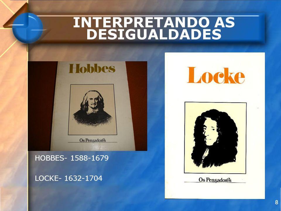 8 INTERPRETANDO AS DESIGUALDADES HOBBES- 1588-1679 LOCKE- 1632-1704