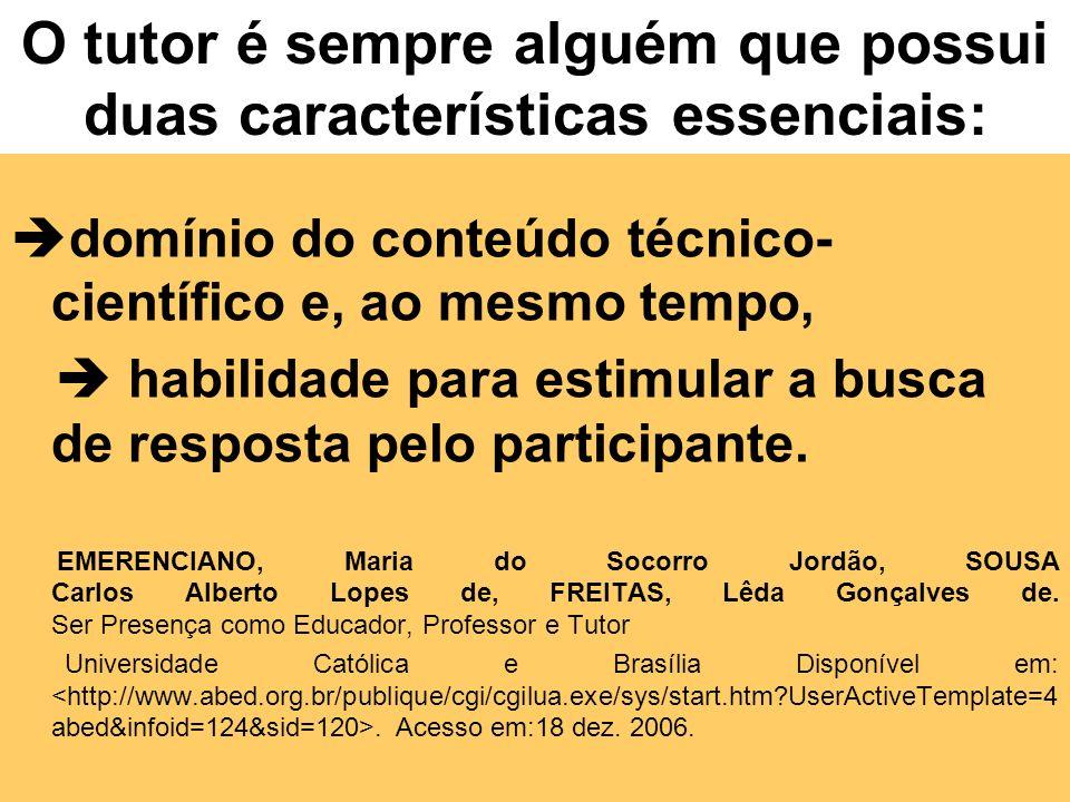 Conceitualmente o que é um tutor? Nos contextos educacionais americanos e europeus, o termo tutor é destinado ao professor que se ocupa de ensinar o a