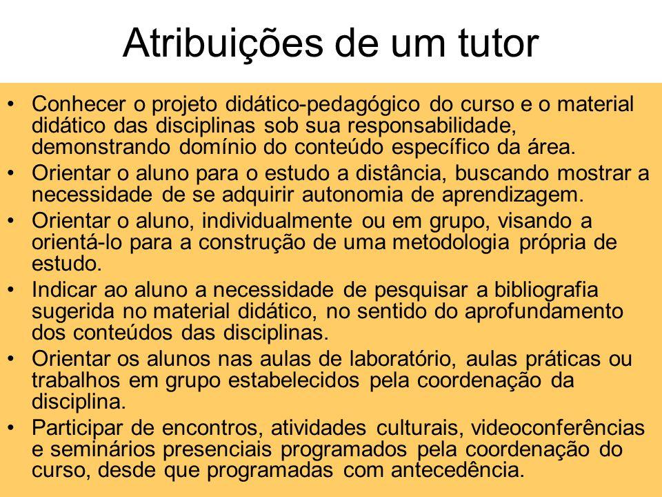Características, atribuições e funções de um tutor