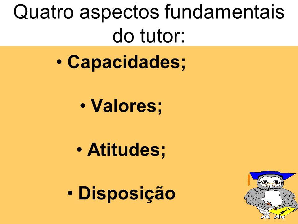 Atribuições de um tutor Emitir relatório semanal para o tutor-coordenador de área com o registro da participação do aluno, suas principais dúvidas e r