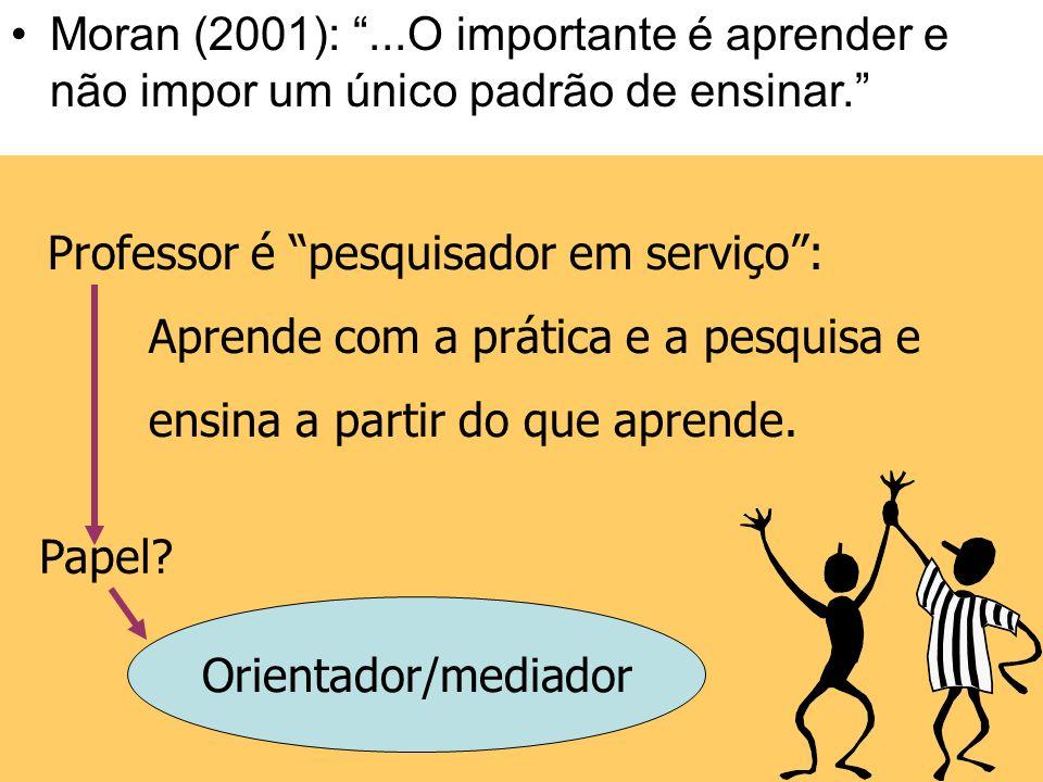 Práticas Pedagógicase Mediação: o que muda no papel do professor? Práticas Pedagógicas e Mediação: o que muda no papel do professor?