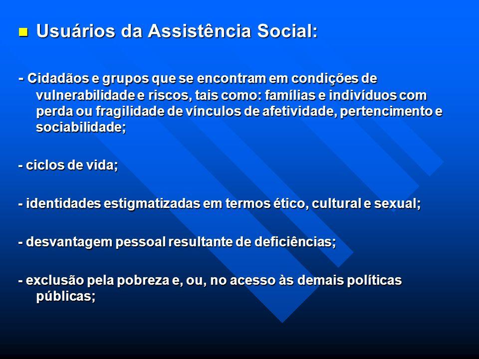 A PROTEÇÃO SOCIAL não é só da assistência social: ela está presente nas políticas de defesa de direitos, isto é, nas políticas sociais. A PROTEÇÃO SOC