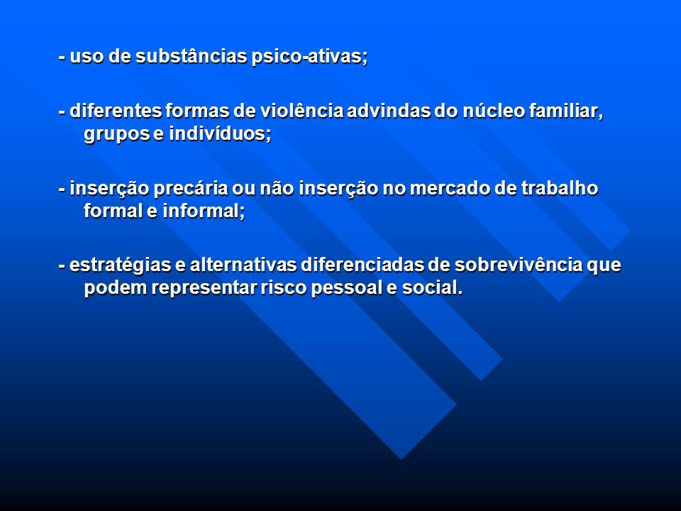 Usuários da Assistência Social: Usuários da Assistência Social: - Cidadãos e grupos que se encontram em condições de vulnerabilidade e riscos, tais co