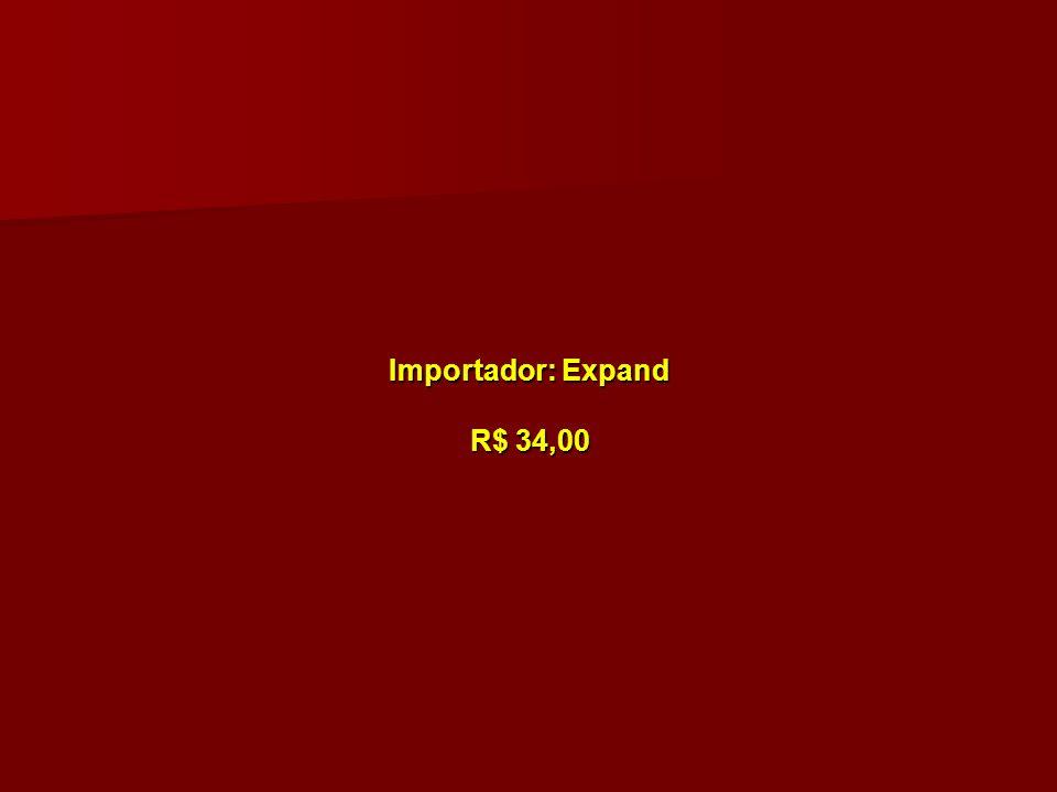 Importador: Expand R$ 34,00