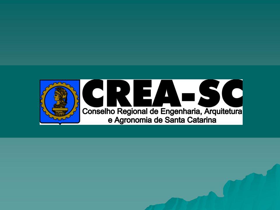 FISCALIZAÇÃO CREA-SC A fiscalização do CREA-SC é sobre o exercício das profissões regulamentadas pelo CONFEA/CREA.