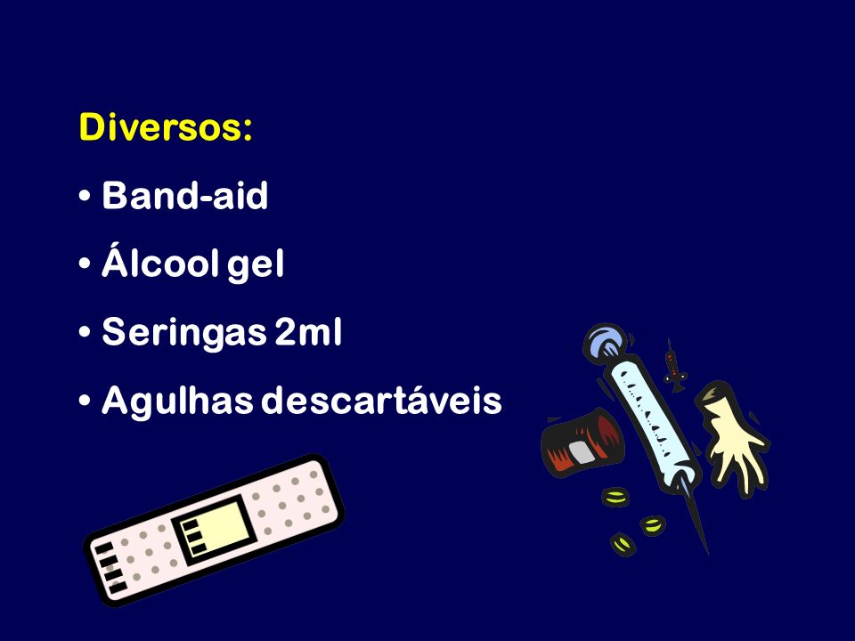 Diversos: Band-aid Álcool gel Seringas 2ml Agulhas descartáveis