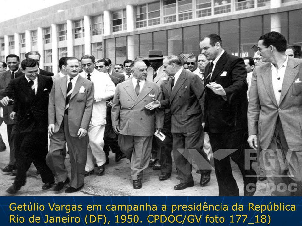 Getúlio Vargas em campanha a presidência da República Rio de Janeiro (DF), 1950. CPDOC/GV foto 177_18)