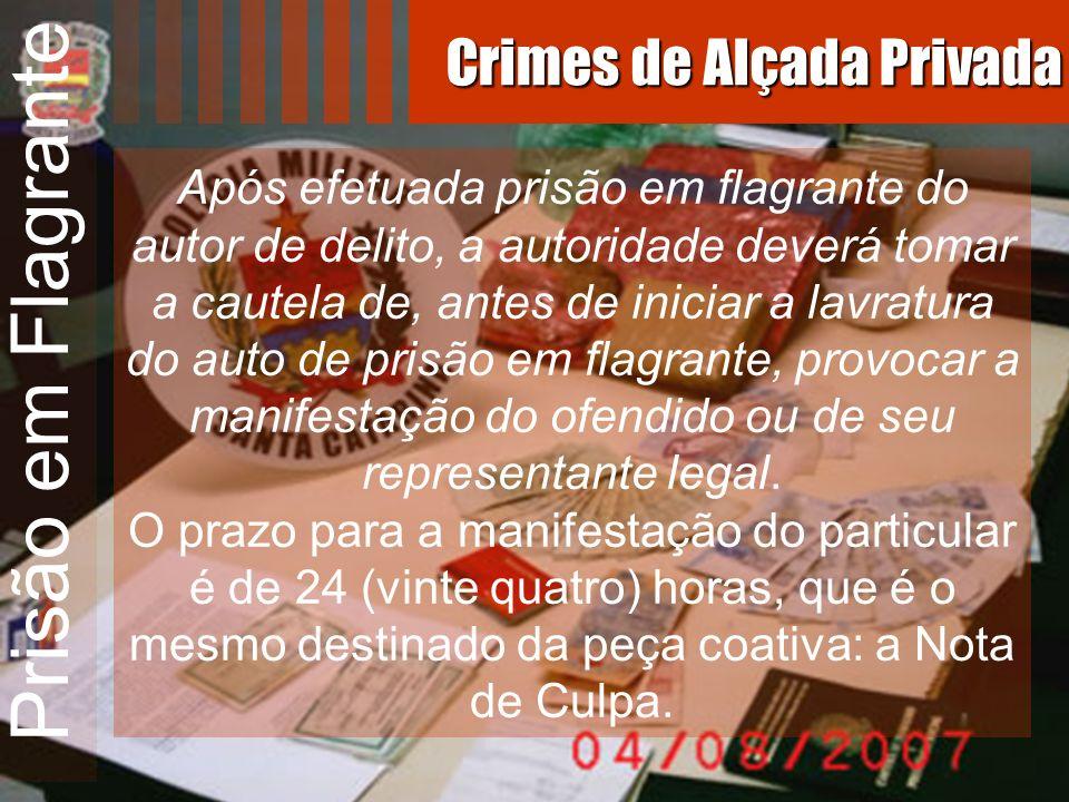 Prisão em Flagrante Após efetuada prisão em flagrante do autor de delito, a autoridade deverá tomar a cautela de, antes de iniciar a lavratura do auto