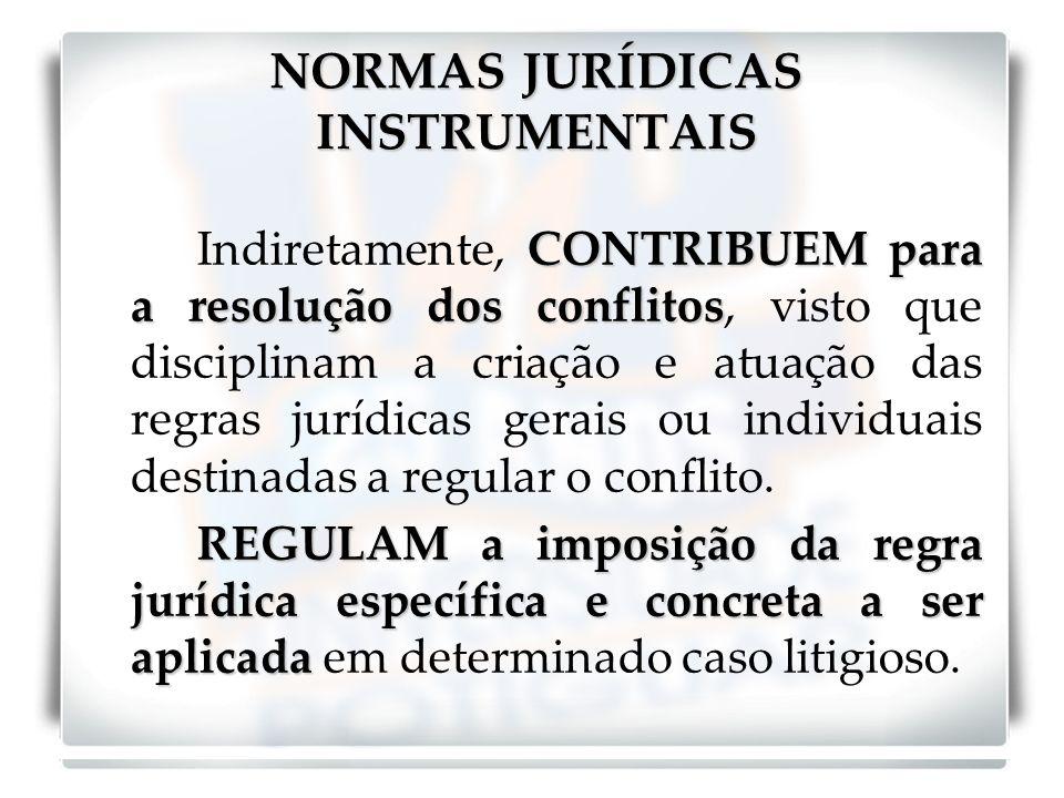 VISÃO DA ATIVIDADE JURISDICIONAL Distinção: as normas jurídicas materiais: critério de julgar.