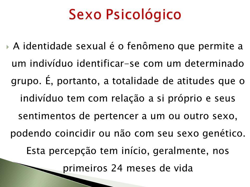 A identidade sexual é o fenômeno que permite a um indivíduo identificar-se com um determinado grupo. É, portanto, a totalidade de atitudes que o indiv