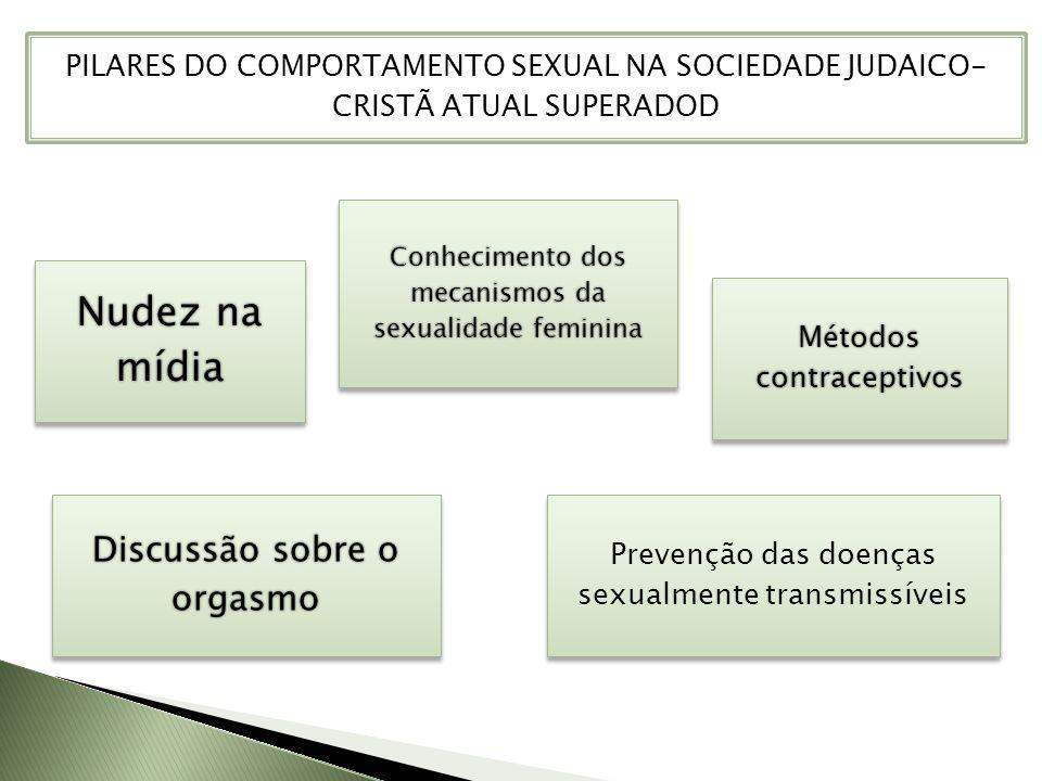 Nudez na mídia Conhecimento dos mecanismos da sexualidade feminina Métodos contraceptivos Discussão sobre o orgasmo PILARES DO COMPORTAMENTO SEXUAL NA