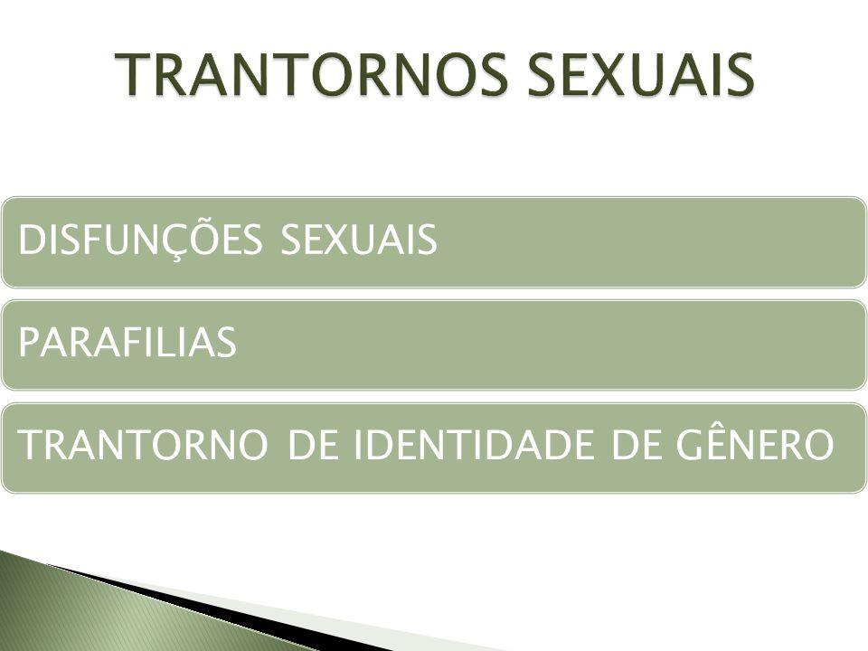 DISFUNÇÕES SEXUAISPARAFILIASTRANTORNO DE IDENTIDADE DE GÊNERO