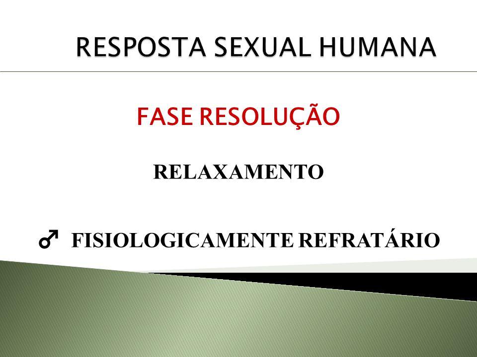 FASE RESOLUÇÃO RELAXAMENTO FISIOLOGICAMENTE REFRATÁRIO