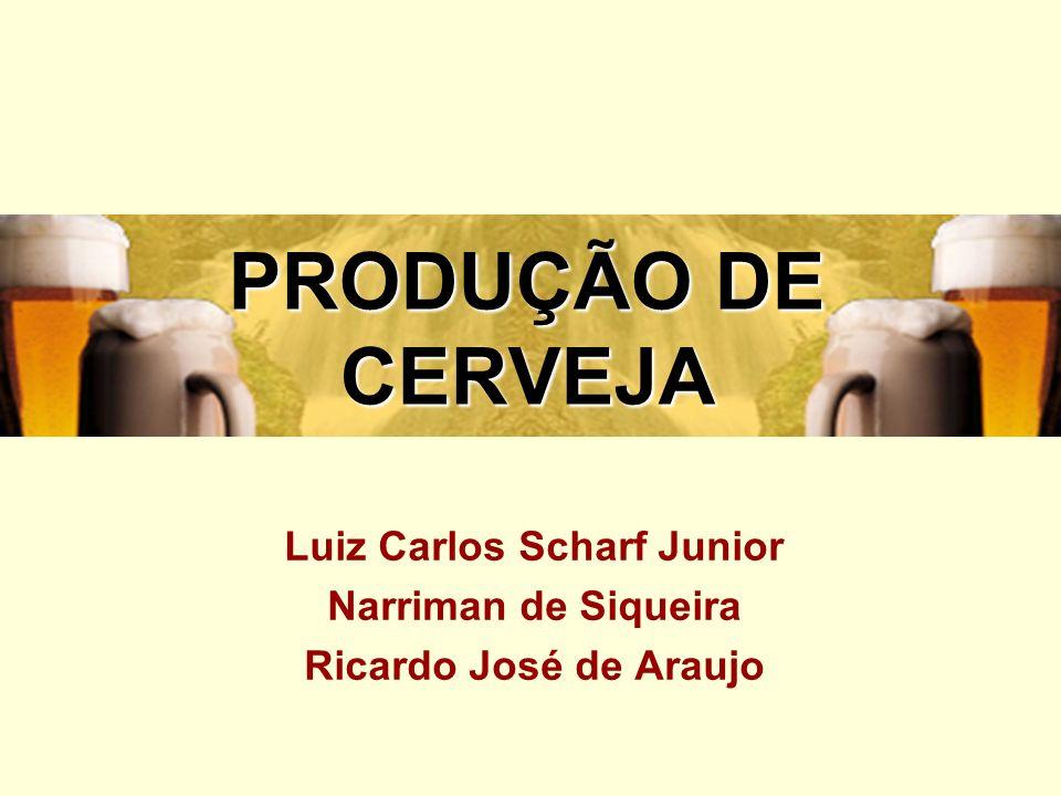 PRODUÇÃO DE CERVEJA Luiz Carlos Scharf Junior Narriman de Siqueira Ricardo José de Araujo
