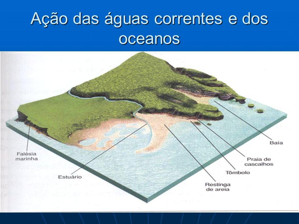 Ação das águas correntes e dos oceanos