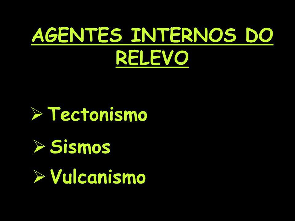 AGENTES INTERNOS DO RELEVO Tectonismo Sismos Vulcanismo