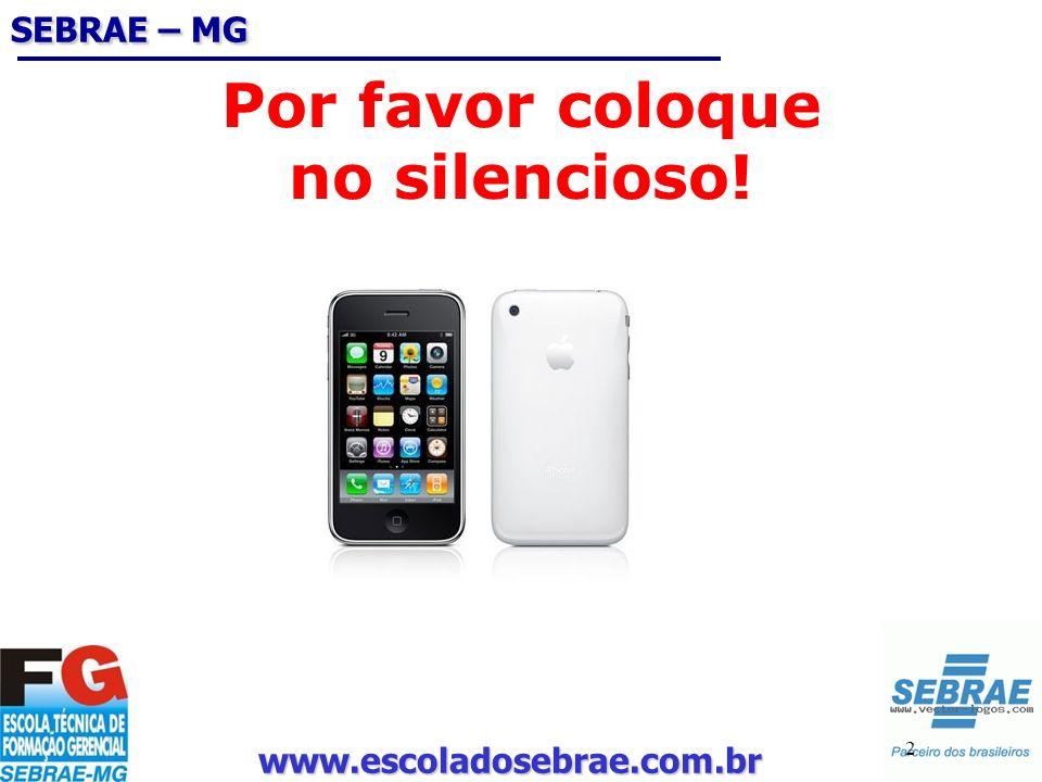 www.escoladosebrae.com.br 2 Por favor coloque no silencioso! SEBRAE – MG