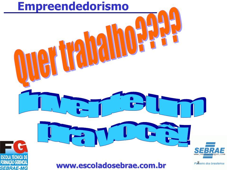 www.escoladosebrae.com.br 8 Empreendedorismo
